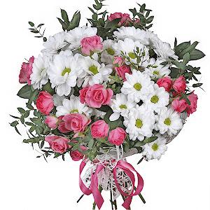 """цветы ко дню матери Букет """"Родные просторы"""""""