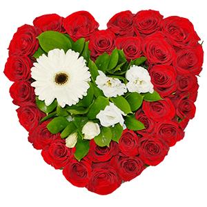 Цветочное сердце +30% цветов с доставкой в Чапаевске